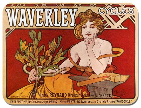 Waverley Vintage Bicycle Ad Mouse Mat Classic. High Quality Bike Mouse pad Gift